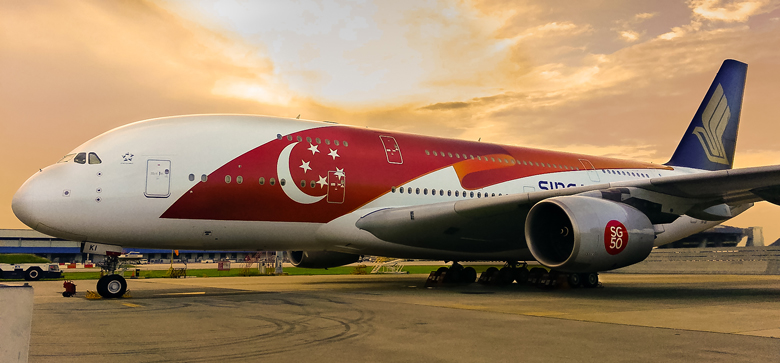 Singapore Airlines SG50 livery