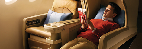 Singapore Airlines medium haul business seat