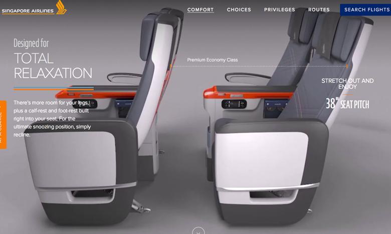 Singapore Airlines unveils premium economy seat – Business Traveller