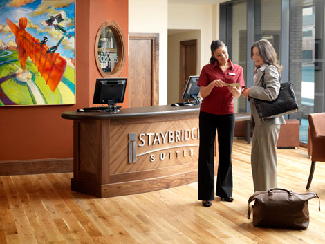 Staybridge Suites Newcastle reception