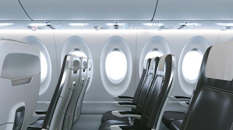 Swiss Bombardier CS100 cabin