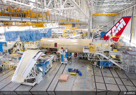 TAM\\\\\\\\\\\\\\\\\\\\\\\\\\'s A350 in assembly
