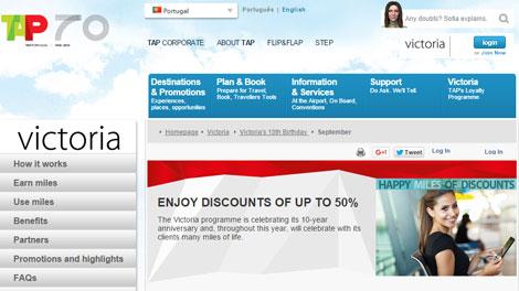 TAP Air Portugal Victoria programme