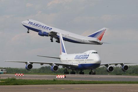 Transaero aircraft