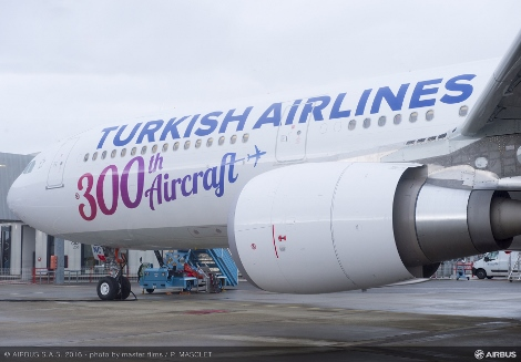 Turkish Airlines 300th aircraft A330-300