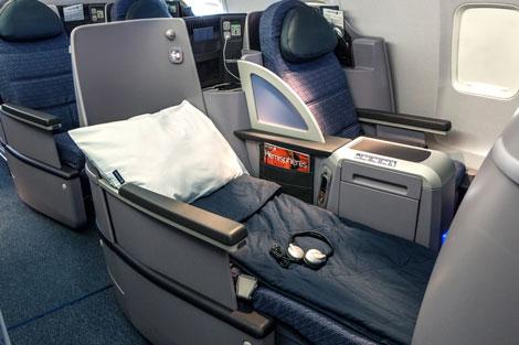 United B757-200 flat-bed seat