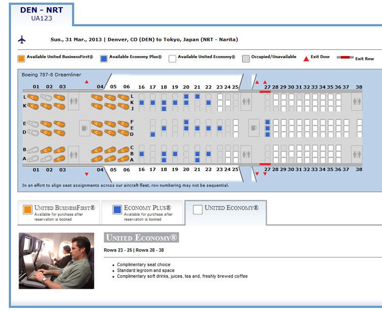 United Reveals Dreamliner Seat Plan