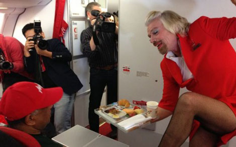 Branson in drag
