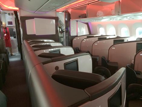 Virgin 787 cabin
