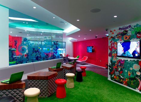 Virgin Opens V Room Lounge At Manchester Business