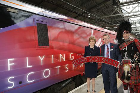 Flying Scotsman in Virgin Trains East Coast livery
