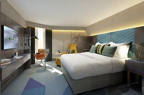 Westin London guestroom rendering