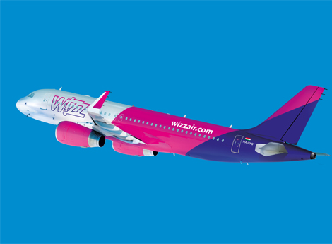 Wizzair in flight