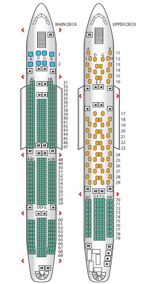 China Southern A380 seatplan