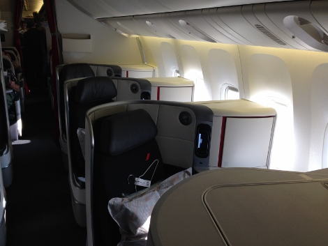 Air France new fully-flat business class second cabin