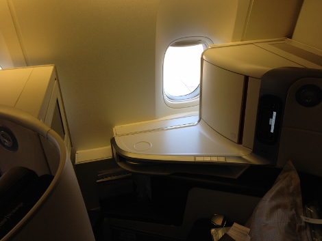 Air France new fully-flat business class seat row 7 window