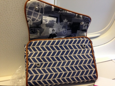 Air France new fully-flat business class seat amenity kit