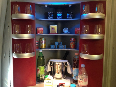 Air France new fully-flat business class kitchen