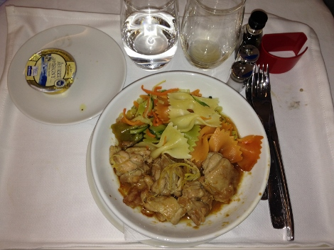 Air France new fully-flat business class food
