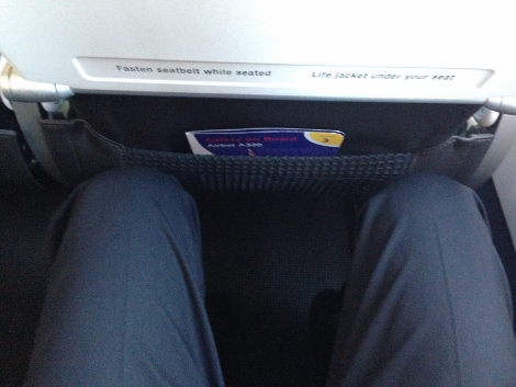 British Airways A320 leg room