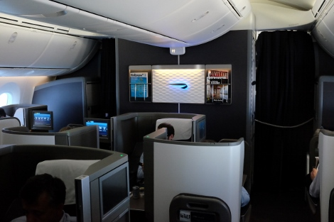 BA B787-9 Club World cabin