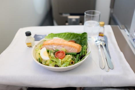 BA B787-9 Club World food