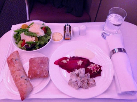 Emirates business class food 1