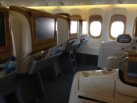 Emirates B777-300ER business class seat 2