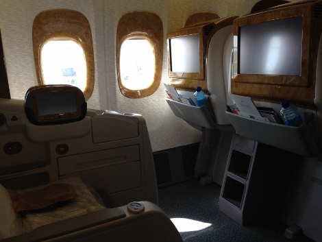 Emirates B777-300ER business class seat 1