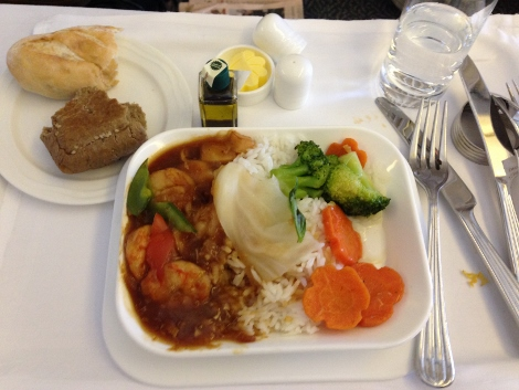 Emirates business class food 2