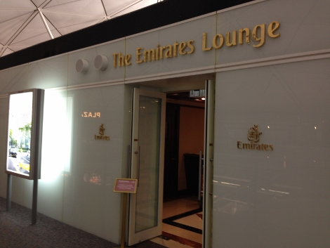 Emirates Hong Kong Airport business class lounge