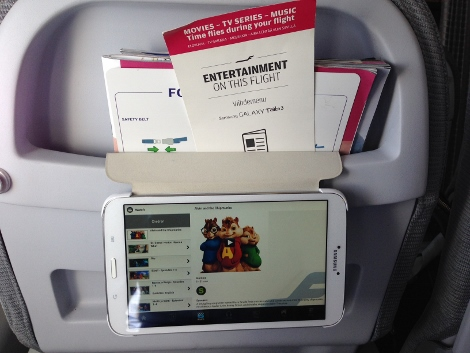 Finnair short-haul entertainment via tablet