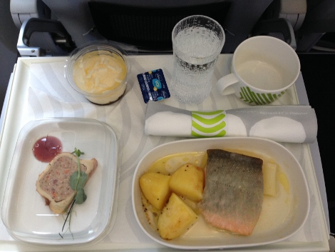 Finnair business class food (short haul)