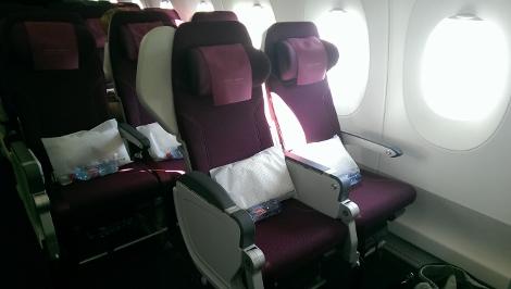 Qatar Airways A350XWB economy class