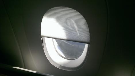 Qatar Airways A350XWB windows blind
