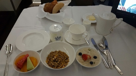 Swiss First A340-300 Food