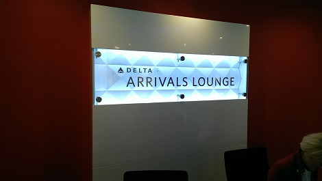 Delta arrivals lounge London Heathrow