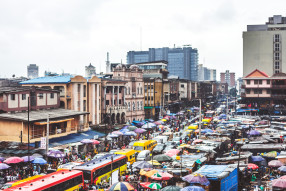 Lagos Island's commercial district.