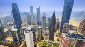 Chongqing, China skyscraper cityscape
