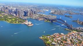 Aerial view of Sydney, Australia