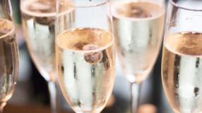 Champagne white wine glasses