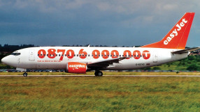 Easyjet's first aircraft livery, 1995