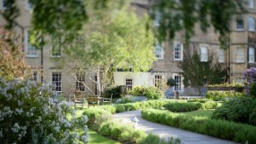 Royal Crescent hotel garden, Bath