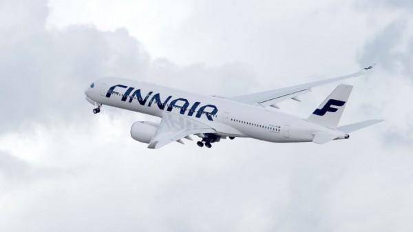 Finnair A350_XWB First delivery to Finnair -ferry flight take off