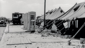 Tent 'terminals' at Heathrow, 1946
