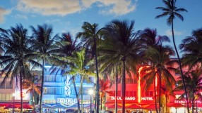 Ocean Drive at sunset, Miami