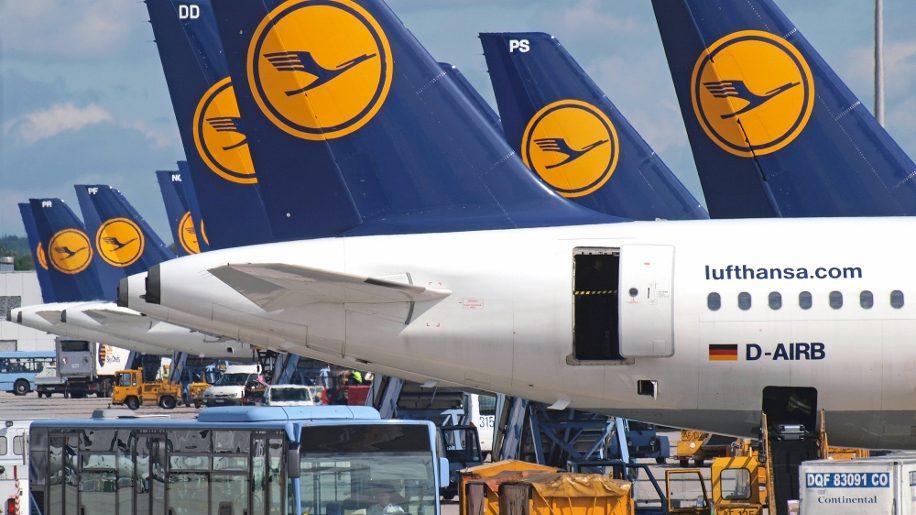 Lufthansa aircraft at Munich Airport