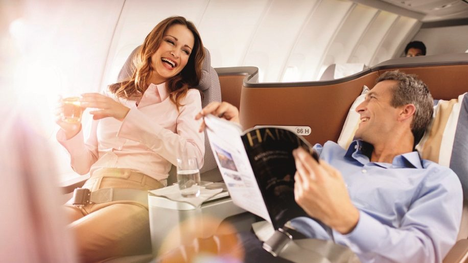 Lufthansa Business Class Relaxed Flying