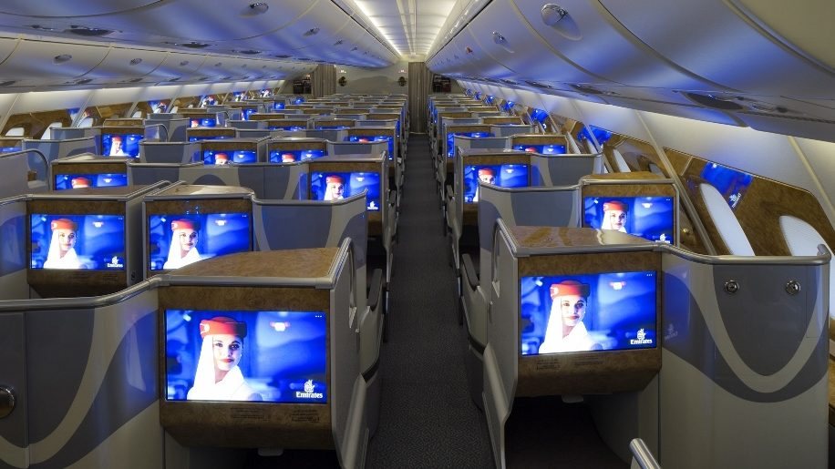 Emirates A380-800 Business Class interior