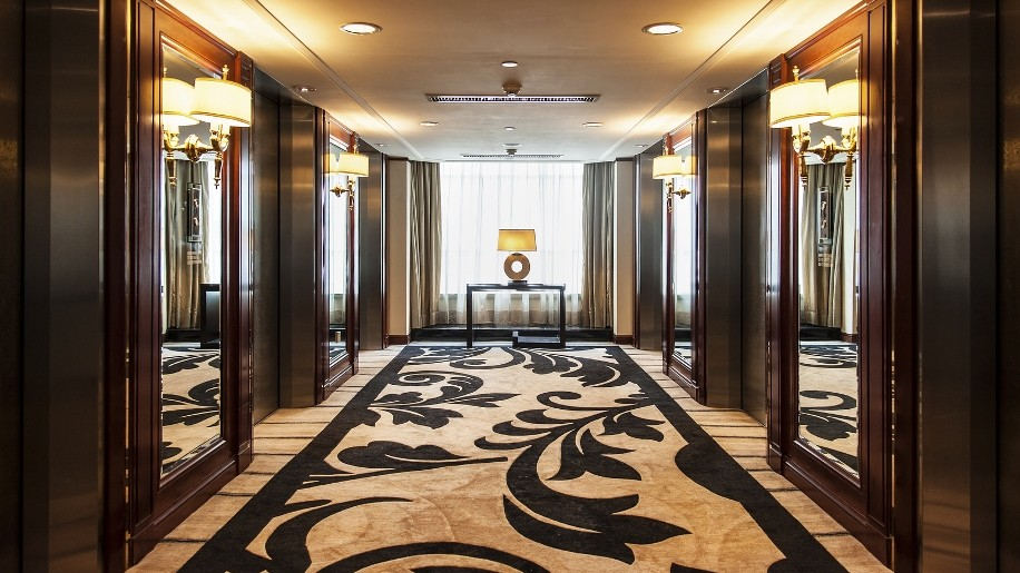 Elevator Lobby in Luxury Hotel